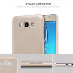 Husa Samsung Galaxy J7 2016 Super Frosted gold by Nillkin - Husa Telefon Samsung, Auriu, Plastic, Fara snur, Carcasa