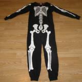 Costum carnaval serbare schelet pentru copii de 7-8 ani - Costum Halloween, Marime: Masura unica, Culoare: Din imagine