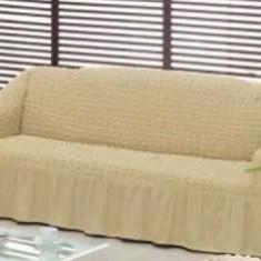 Husa pentru canapea 2 locuri Bej Natur - Cuvertura pat