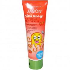 Pasta naturala de dinti Jason cu capsuni pentru copii, 119g - Cosmetice copii
