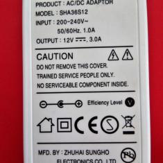 Alimentator / Incarcator SAMSUNG 12V-3.0A model: SHA36S12 pt laptop/monitor/LCD - Incarcator Laptop Samsung, Incarcator standard
