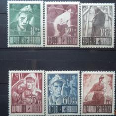 AUSTRIA 1947 – PRIZONIERI DE RAZBOI, SERIE cu sarniera K101, Nestampilat