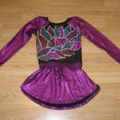 Costum carnaval serbare rochie dans balet gimnastica pentru copii de 10-11 ani - Costum dans, Marime: Masura unica, Culoare: Din imagine