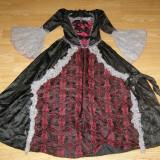 Costum carnaval serbare printesa contesa pentru copii de 7-8 ani - Costum Halloween, Marime: Masura unica, Culoare: Din imagine
