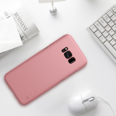 Husa Samsung Galaxy S8 Plus Super Frosted Rose Gold by Nillkin - Husa Telefon Samsung, Roz, Plastic, Fara snur, Carcasa