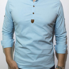 Camasa- camasa turquaz - camasa slim fit - camasa elastica - cod 133