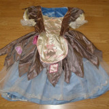 Costum carnaval serbare cenusareasa cu 2 fete pentru copii de 4-5-6 ani - Costum Halloween, Marime: Masura unica, Culoare: Din imagine