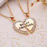 Lantisor, colier, pandativ, Best Friends, BFF, 2 bucati, Fashion, Auriu