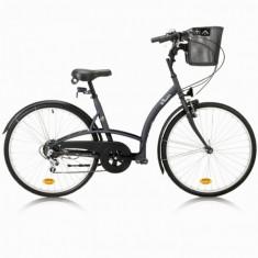 Bicicleta Oras City B'twin ELOPS 3 - Bicicleta Dama, 10 inch, Numar viteze: 6
