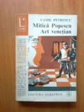 n1 Mitica Popescu. Act Venetian - Camil Petrescu (volumul 2)