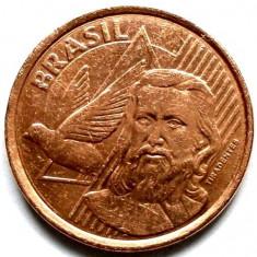 BRAZILIA, 5 CENTAVOS 2009, Joaquim Jose da Silva Xavier 1746 - 1792, 22mm., America Centrala si de Sud, Cupru (arama)
