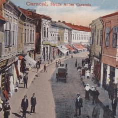 OLTENIA, CARACAL, STRADA ANTON CARACALA, MAGAZINE, TRASURI, CIRCULATA, TCV - Carte Postala Oltenia dupa 1918, Necirculata, Printata