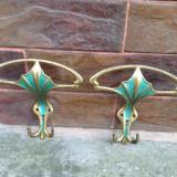 2 buc. - Vechi Cuier din bronz /Alama - Metal/Fonta