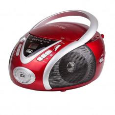 Ghettoblaster TREVI CMP-542, roșu, USB, AUX - Combina audio