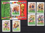 UNGARIA 1990, Sport, Campionatul Mondial de Fotbal, Italia, serie neuzată, MNH
