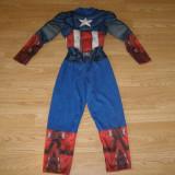 Costum carnaval serbare captain america pentru copii de 5-6 ani - Costum Halloween, Marime: Masura unica, Culoare: Din imagine
