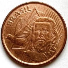 BRAZILIA, 5 CENTAVOS 2013, Joaquim Jose da Silva Xavier 1746 - 1792, 22mm., Europa, Cupru (arama)