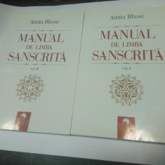 MANUAL DE LIMBA SANSCRITA - AMITA BHOSE - 2 VOLUME