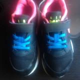 Nike Air Max originali, piele naturala+textil, marimea 32-20 cm. - Adidasi copii Nike, Culoare: Negru, Fete