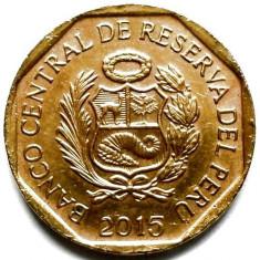 PERU, 10 CENTIMOS 2015, America Centrala si de Sud, Bronz