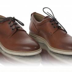 Pantofi barbati casual piele naturala Denis-2823 mattone, Marime: 40, 41, 42, 43, 44, 45, Culoare: Maro