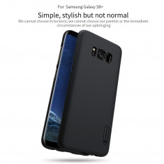 Husa Samsung Galaxy S8 Plus Super Frosted Neagra by Nillkin - Husa Telefon Samsung, Negru, Plastic, Fara snur, Carcasa