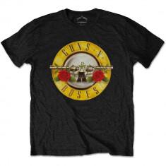 GUNS N ROSES Classic Logo, tricou, negru, XL - Tricou barbati, Maneca scurta