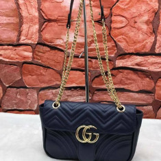 GENTI GUCCI NEW MODEL LOGO AURIU METALIC - Geanta Dama Gucci, Culoare: Din imagine, Marime: Medie