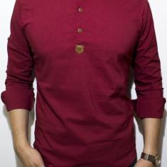 Camasa - camasa grena - camasa slim fit - camasa elastica - cod 132