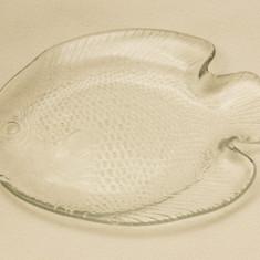 Farfurie mica de sticla in forma de peste model 1 - Vesela sticla