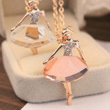 Colier, pandativ, lantisor, Balerina fashion nou, cadou, auriu