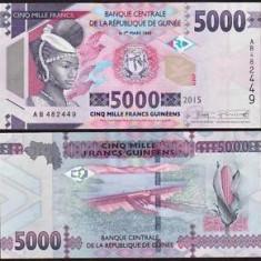 Guinea 2015 - 5000 francs UNC