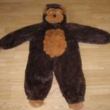 Costum carnaval serbare maimuta gorila pentru copii de 2-3 ani - Costum Halloween, Marime: Masura unica, Culoare: Din imagine