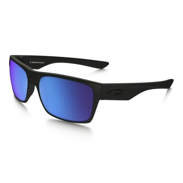Ochelari de soare OAKLEY Two Face Matte Black w/ Sapphire Iridium Polarized (OAK-OO9189-3560) foto mare