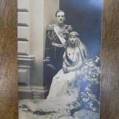 Regele Alexandru I si Regina Marioara, foto originala Julietta tip CP - Harta Europei