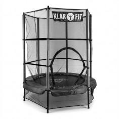trambulină cu Plasă de siguranță 140cm neagra