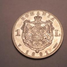 1 leu 1881 Piesa de Colectie - Moneda Romania