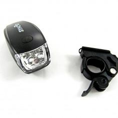 Far detasabil pt bicicleta – Lanterna - cu 5 LED-uri albe - Accesoriu Bicicleta, Faruri si semnalizatoare
