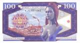 Bancnota Sarre / Saarland 100 Franci(Marci) 2017 - SPECIMEN (hartie cu filigran)