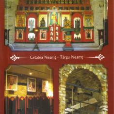 CP NT036 Tg Neamt - Cetatea Neamtului - Paraclisul Sf. Nicolae - Carte Postala Moldova dupa 1918, Necirculata, Printata