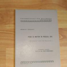 PROBA CU MARTORI IN PROCESUL CIVIL-MIRCEA IONESCU - Carte Drept procesual civil