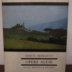 SIMION MEHEDINTI -OPERE ALESE - Carte Geografie