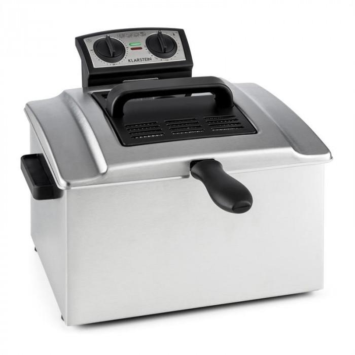Klarstein QuickPro XXL 3000, 3000W, 5L, friteuza, o?el inoxidabil, 1,5 kg, cronometru foto mare