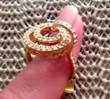 LICHIDARE STOC-Inel -marimea 8, 18 mm  -placat cu aur 18K si Swarovski