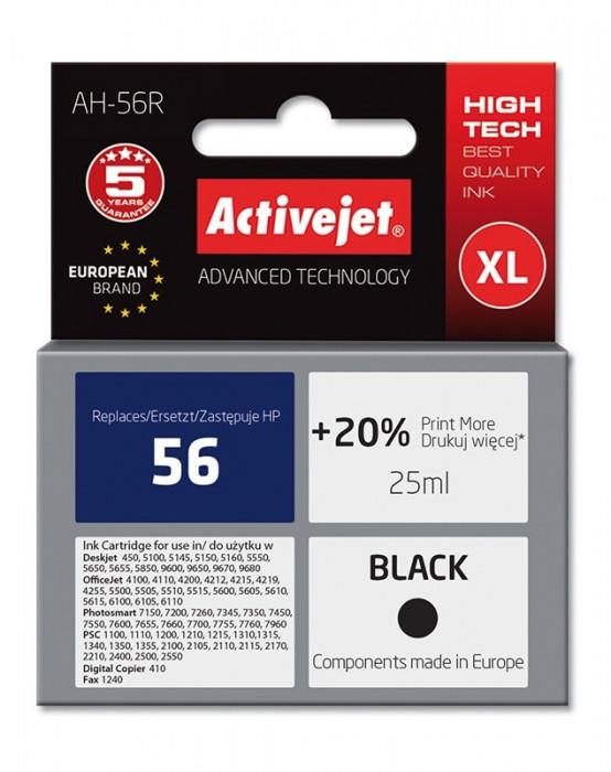 Cartus compatibil 56 XL negru pentru HP, 25 ml, Premium Activejet, Garantie 5 ani foto mare
