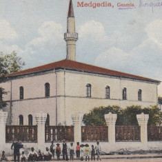 CONSTANTA MEDGIDIA GEAMIA SI GRUP DE TATARI CIRCULATA 1919 - Carte Postala Dobrogea dupa 1918, Printata