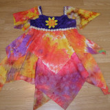 Costum carnaval serbare floare hippy pentru copii de 12-13-14 ani - Costum Halloween, Marime: Masura unica, Culoare: Din imagine