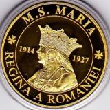 Medalie placata cu aur Regalitate regina Maria si regele Ferdinand - Medalii Romania
