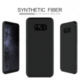 Husa Samsung Galaxy S8 Synthetic fiber by Nillkin - Husa Telefon Samsung, Negru, Plastic, Fara snur, Carcasa
