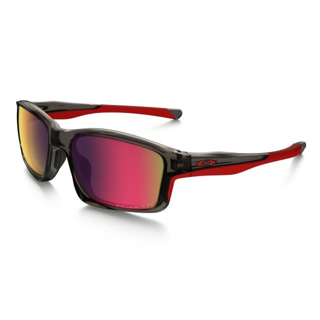 Ochelari de soare OAKLEY Chainlink Grey Smoke w/ OO Red Iridium Polarized (OAK-OO9247-10) foto mare